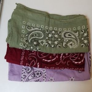 Accessories - Bandana set of 3 100% cotton made in USA